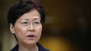 A chefe do executivo de Hong Kong, Carrie Lam (20/08/19).