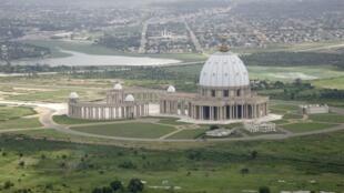 Vue aérienne de Yamoussoukro, capitale de la Côte d'Ivoire.