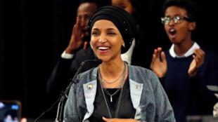 Nhà hoạt động xã hội Ilhan Omar đắc cử dân biểu ở Minnesota, 06/11/2018.