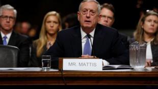 Tướng James Mattis phát biểu tại Ủy ban Quân vụ Thượng viện, Washington, ngày 12/01/2017.