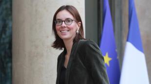 La secrétaire d'État aux Affaires européennes, Amélie de Montchalin, à l'Élysée, le 7 janvier 2020, à Paris.