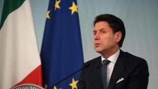 Thủ tướng Ý Giuseppe Conte phát biểu trước Thượng Viện, ngày 20/08/2019.