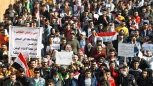Manifestation antigouvernementale à Bagdad, le 29 décembre 2019.