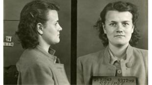 Paulette Sarcey, lors de son arrestation le 25 mars 1943 (Copyright : Archives de la Préfecture de la police de Paris / FRAPP_GB188_468).