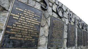 Cerca de 250.000 homens, mulheres e crianças judias foram exterminados em Sobibor. termination de Sobibor, en Pologne.