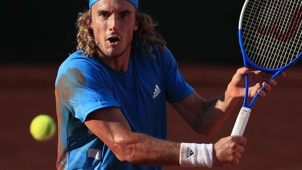 Stefanos Tsitsipas is one of three players in the top 10 who uses a single-handed backhand.