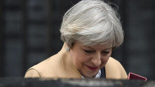 英國今日正式觸發脫歐必需的里斯本條約第五十條。圖為英國首相特蕾莎梅