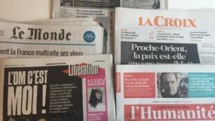 Primeiras páginas dos jornais franceses de 16 de maio de 2018