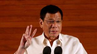 Tổng thống Philippines Duterte, ngày 25/07/2016 tại Manila.