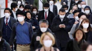 冠狀病毒日本街頭2020年04月07日