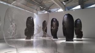 Algunas de las esculturas de Jaume Plensa en el Museo de Arte Moderno y Contemporáneo de Saint-Étienne. Marzo de 2017.