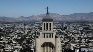 L'église nationale de Santiago au Chili.