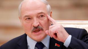 Президент Беларуси Александр Лукашенко на пресс-конференции в Минске, 14 декабря 2018.