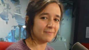 Violeta Cruz en los estudios de RFI