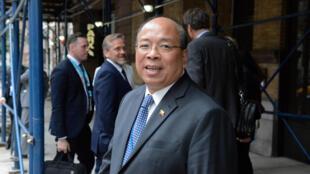 Cố vấn an ninh quốc gia của Miến Điện Thaung Tun sau cuộc họp về tình hình người Rohingya tại Đại Hội Đồng LHQ ngày 18/09/2017.7.