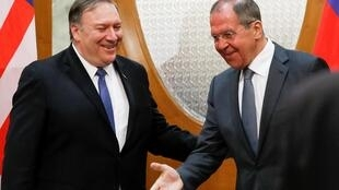 Госсекретарь США Майк Помпео и глава российского МИД Сергей Лавров