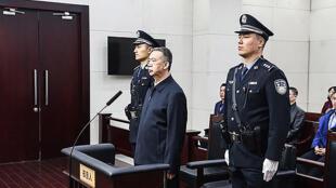 Meng Hongwei lors de l'annonce de la sentence au tribunal de Tianjin, le 21 janvier 2020.