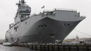 A Mistral warship