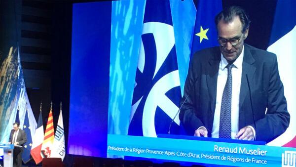 Renaud Muselier, à l'ouverture de Méditerranée du Futur.