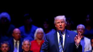 Donald Trump, le candidat républicain à la Maison Blanche en campagne, le 4 août 2016, à Portland dans le Maine.