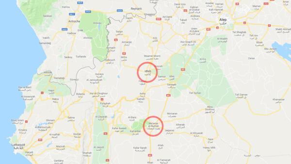 Idleb and Maarat al-Nouman in Syria
