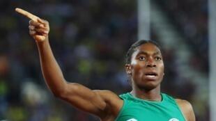 Queen of middle distance, Caster Semenya.