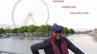 Photographie de Glad Amog Lemra / Couverture de son livre «Négritudesque», paru chez LC éditions.
