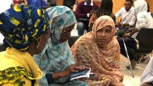 """We want education and youth empowerment"" says Mauritanian delegation. Female Mauritanian entrepreneurs at an ideation and prototype workshop at i-Lab incubator in Nouakchott."