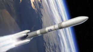 Image de synthèse de la fusée Ariane 6.