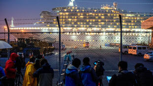 Du thuyền Diamond Princess, Yokohama, Nhật Bản, ngày 16/12/2020.