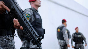 Des militaires ont été envoyé dans l'Etat de Ceara pour rétablir l'ordre en raison de la grève des policiers, ici à Fortaleza le 21 février 2020.