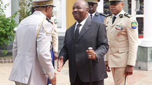 Gabon's President Ali Bongo attends first ceremony in Libreville 10 months after suffering a stroke in Saudi Arabia, 16 August 2019