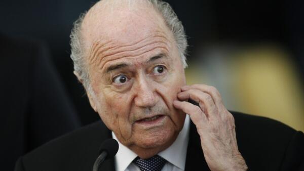 O presidente da FIFA, Sepp Blatter, durante encontro com a presidenta Dilma Rousseff em Brasília, em foto do dia 16 de março.
