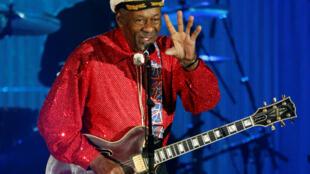Nghệ sĩ Chuck Berry tại  Monaco. Ảnh 28/03/2009.