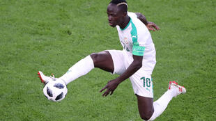 Senegal's Sadio Mane in action during the match againt Japan in Yekaterinburg, Russia on 24 June 2018