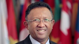 Le président Hery Rajaonarimampianina, à Antananarivo, le 21 mars 2014.