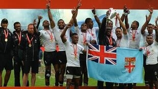 Fiji team at rugby Sevens