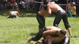 Kirkpinar is a Turkish oil-wrestling tournament. It is held annually near Edirne since 1346.