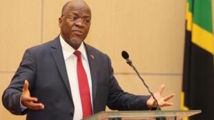 Rais wa Tanzania, John Pombe Magufuli. 12 Juni, 2017
