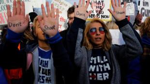"""ក្បួនបាតុកម្មរបស់សិស្សនិស្សិត """"March for Our Lives"""" នៅក្រុង Washington ថ្ងៃទី២៤ មីនា ២០១៨"""
