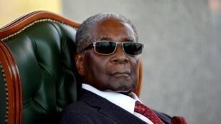 L'ancien président du Zimbabwe, Robert Mugabe, aujourd'hui décédé.