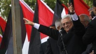 O Presidente da Autoridade Palestina foi recebido como herói em Ramallah