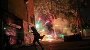 La nuit du Nouvel an au Chili a une nouvelle fois vu s'affronter de nombreux manifesants et forces de police.
