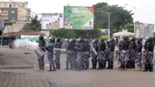Police anti-émeutes à Lomé le 8 septembre 2017, lors des manifestations de l'opposition pour réclamer la démission du président Faure Gnassingbe. Photo d'illustration.