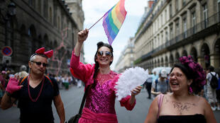 Participants take part in the annual Gay Pride parade in Paris Participants take part in the annual Gay Pride parade in Paris, France June 24, 2017.