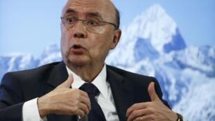 O ministro da Fazenda, Henrique Meirelles, em Davos