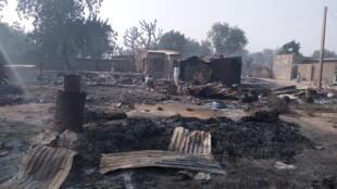 Деревня Далори после нападения боевиков «Боко Харам»