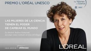 La investigadora Andrea Gamarnik, una de las cinco ganadoras del premio L'Oréal-Unesco 2016 por sus estudios sobre el virus del dengue.