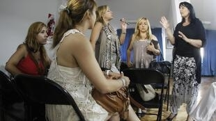 Argentine women who have received PIP breast implants meet to exchange information