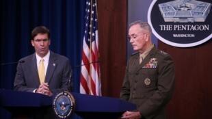 مایک اسپر وزیر دفاع آمریکا و ژنرال ژوزف دانفورد رئیس ستاد مشترک ارتش آمریکا